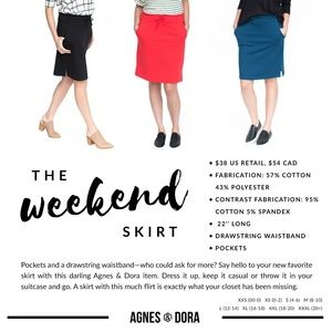 Agnes & Dora Skirts - Agnes and Dora Weekend Skirt